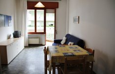 Obývací pokoj jednoho z apartmánů